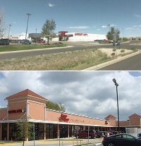 A shopping center in Texas and in Wyoming